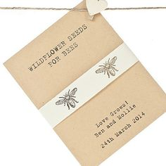 Recycled Bee Seeds Wedding Favour | Wedding Favours | Wedding Favour Ideas