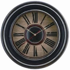Check out the Cooper Classics 4822 McKenna Clock in Distressed Black