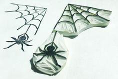 Spider web stamp, spider stamp, spider and spider web carved stamp, insect hand carved stamp, spider stamp set, spider web stamp set