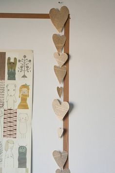 easy book page garland