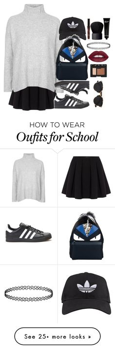 """School Grunge"" by anastasiabuthan on Polyvore featuring Polo Ralph Lauren, Topshop, adidas, Christian Dior, Fendi, NARS Cosmetics, Bobbi Brown Cosmetics, women's clothing, women and female"