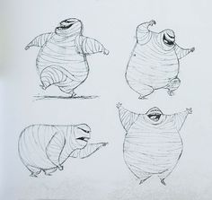 Living Lines Library: Hotel Transylvania (2012) - Character Design