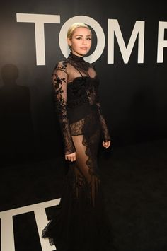 Pin for Later: The Top Moments From Tom Ford's Supersexy LA Show Miley Cyrus