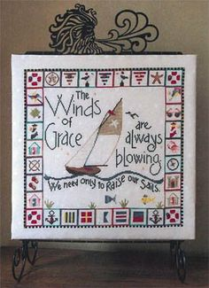 Winds Of Grace - One Bell is the first cross stitch pattern in the six-pattern series from SamSarah Designs. Here is the link to order the embellishment pack.