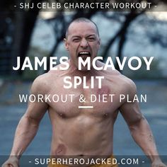 James McAvoy Workout Routine and Diet Plan: Train like The Beast! James McAvoy Workout Routine and Diet Plan: Train like Charles Xavier, Victor Frankenstein, and the man from Split, Atomic Blonde and Wanted – Superhero Jacked Workout Diet Plan, Workout Routine For Men, Workout Plans, Weight Training Programs, Weight Training Workouts, Charles Xavier, The Beast, Movie Workouts, Gym Workouts