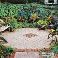 outdoor patio with pavers by irishgrl