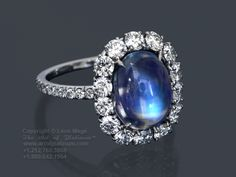 Leon Mege blue moonstone and diamond cluster ring - Love it!