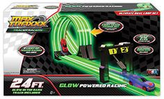 Featuring a patented glow-in-the-dark track, Max Traxxx Tracer Racers from Skullduggery offer the ideal way to teach your children about the laws of gravity, light trail technology, and the mechanics of speed while having lots of fun. www.skullduggery.com