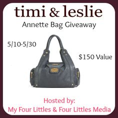 Bloom Into Baby: Timi and Leslie Diaper Bag Giveaway  Ends 5/30