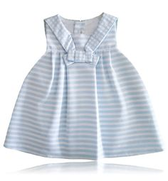 4637892bcaa27 Spanish baby clothes | baby baby girl dress | Baby blue and white striped  dress