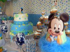 Mickey Baby - Decoração da Mesa