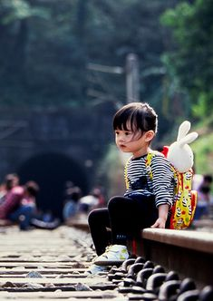 Cute Baby with School Bag