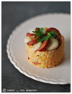 Un risotto entre terre et mer ... Surimi Recipes, Endive Recipes, Chorizo, Risotto Dishes, Couscous, Jucing Recipes, Mackerel Recipes, Coctails Recipes, Quinoa