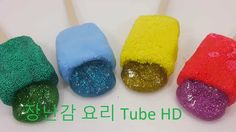 How To Make 'Glitter Ice cream Clay Slime' Toys !! 흐르는 점토 액괴 칼라폼 슬라임 장난감...