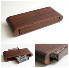 Redwood Playing Card Display Case. Redwood Deck Stand