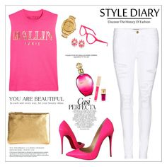 """My style diary..."" by teryblueberry ❤ liked on Polyvore featuring Frame Denim, Brian Lichtenberg, Christian Louboutin, Comme des Garçons, Versace, Whiteley, Kate Spade, Stila, Yves Saint Laurent and Roberto Cavalli"