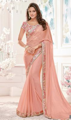 Sarees Online: Shop the latest Indian Sarees at the best price online shopping. From classic to contemporary, daily wear to party wear saree, Cbazaar has saree for every occasion. Designer Sarees Online, Designer Dresses, Designer Wear, Indian Sarees Online, Stylish Sarees, Net Saree, Lehenga Saree, Georgette Sarees, Chiffon Saree