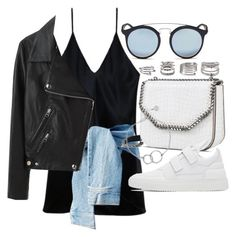 """""""Untitled #21172"""" by florencia95 ❤ liked on Polyvore featuring Fleur du Mal, Ray-Ban, Acne Studios, STELLA McCARTNEY, Filling Pieces, Forever 21 and Chupi"""