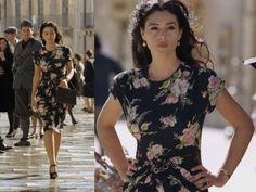 Malena navy floral dress