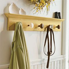 door knob coat rack - Jay can't stand things hanging on active doorknobs, so it would be funny to have a rack of doorknobs you are actually supposed to hang things on!