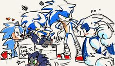 Modern and Boom Sonic: Wut is this? Classic Sonic: *cuddles with one of floof baby*. I may have fall in love with someone and yeah.😓 Modern and Boom Sonic: U WOT, MATE? Sonic Funny, Sonic 3, Sonic And Amy, Sonic And Shadow, Sonic Fan Art, Sonic The Hedgehog, Shadow The Hedgehog, Sonic Generations, Sonic Underground