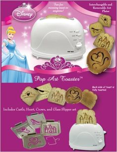 I want this so badly. Disney Pop Art, Disney Home, Disney Style, Mickey Mouse Kitchen, Disney Kitchen, Makeup Kit For Kids, Disney Dishes, Specialty Appliances, Glass Slipper