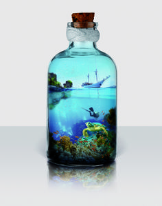 La mer en bouteille © ADNCreative