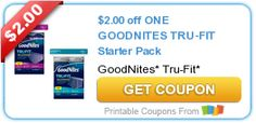 $2.00 off ONE GOODNITES TRU-FIT Starter Pack #coupon