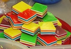 Layered jello--great for parties!