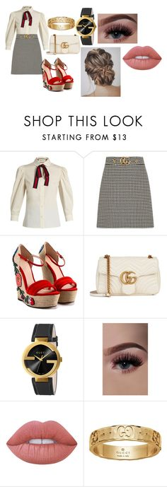 """can you say gucci?"" by taetae1995 on Polyvore featuring Gucci and Lime Crime"