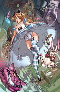 Alice in Wonderland - Fairytale Fantasies by J. Scott Campbell