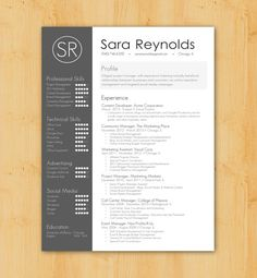 Resume Writing / Resume Design: Custom Resume Writing & Design Service - Simple, Skills-Centered Design - The Sara Reynolds
