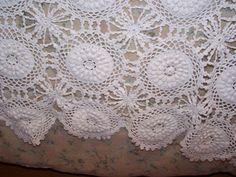 Gorgeous Snow White Large Vintage c1930 Hand Crocheted Bedspread, Popcorn Stitch