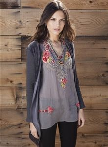 Johnny Was Taylor Blouse,great for the holidays! #johnnywas #holidayapparel