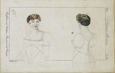 Kleidung um 1800: 'Short Stays' Studies - Schnürleib Studien Corset de Ninon, Costume Parisien 1810