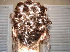 My sisters hair that I did for prom!