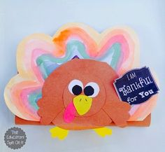 The Educators' Spin On It turkey chocolate bar wrapper craft