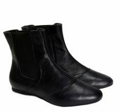 Boot Chelsea Couro Vintage Preto