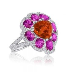 Garnet and Spinel Ring