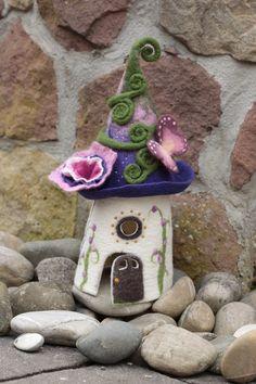 "felted Light Fairylight , Filzlampe ""Schmetterling"" von Happy Felt Company auf DaWanda.com"