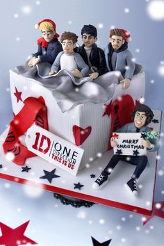1D Christmas Cake - How to make your own One Direction Christmas cake