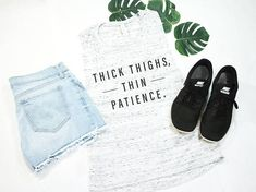 08a56d1e Thick Thighs Thin Patience, Funny Shirt, Workout Shirt, Exercise Tank,  Exercise Clothing