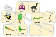 FREE Rhyme Fit Puzzle printable Early Years/EY (EYFS) resource/download — Little Owls Resources - FREE Rhyming Word Game, Word Games, Nursery Practitioner, Early Years Teacher, Literacy Games, Eyfs, Nursery Rhymes, Coloring Sheets