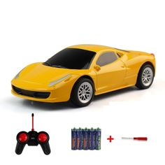 [USD3.78] [EUR3.40] [GBP2.68] Machine Deformation Remote Control Car Electric Toy Car Model (Colour: Yellow)