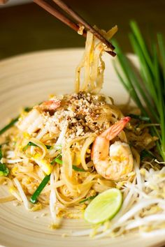 Pad Thai is the famous Thai noodle dish served as a snack by street vendors…