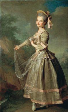 1773 D.G. Levitsky - Portrait of Ekaterina Ivanovna Nelidova
