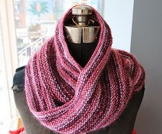 Mmm. Simple garter stitch cowl knit up in Berroco Quasar