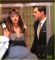 """Celeb Diary: Jamie Dornan & Dakota Johnson filming one of the major scenes in """"50 Shades of Grey"""" movie"""