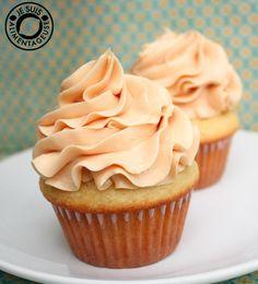 Vanilla Cupcakes with Salted Caramel Swiss Meringue Buttercream
