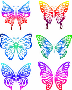 abstract butterfly designs - Google Search